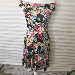 ASOS Floral Off Shoulder Dress Sz 2